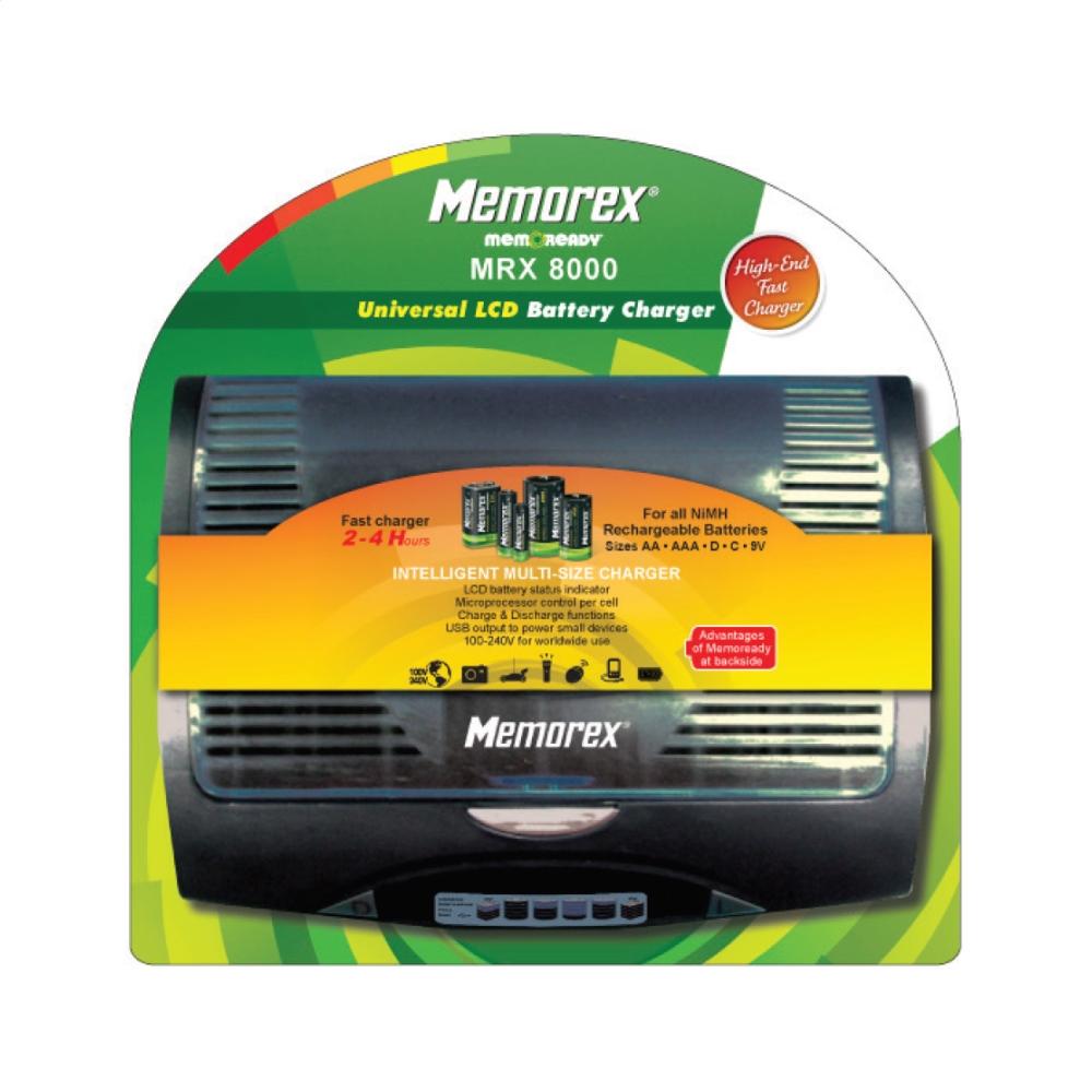 MEMOREX UNIVERZÁLNY HI-MH NABÍJAČKA MRX8000 RÝCHLE S USB MEA0069