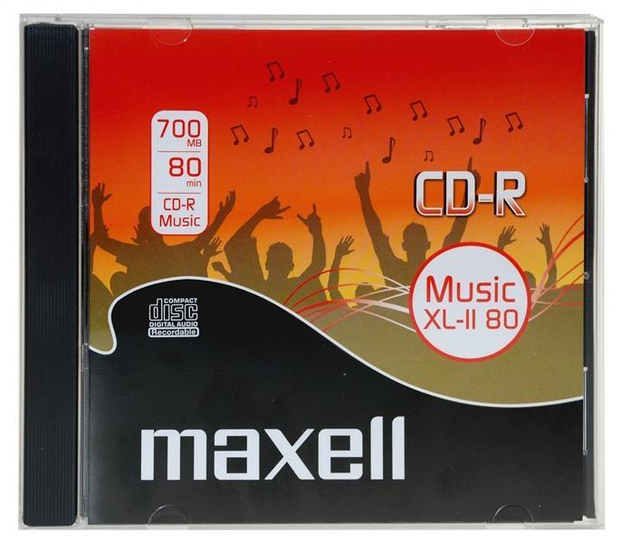 MAXELL CD-R 700MB MUSIC XL-II 80 MIN PRÍPADNÁ ŠPERKA * 10 624880.00.CN