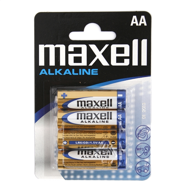 MAXELL BATÉRIA ALKALINE LR06 / AA BLISTER * 4SZT [723758.04.EU]