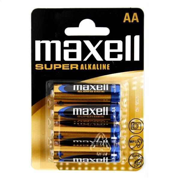 MAXELL BATTERY SUPER ALKALINE LR06 / AA BLISTER * 4 774409.04.EU