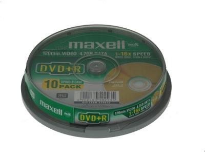 MAXELL DVD + R 4,7 GB 16x CAKE * 10 275632,30.TW