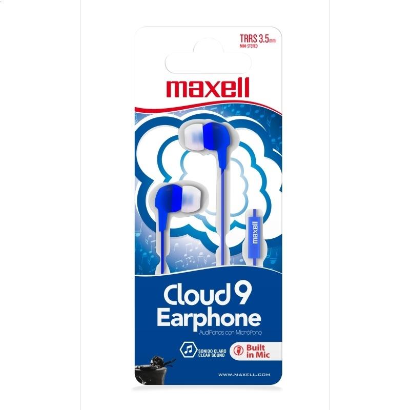 MAXELL EARFÓNY EB-CLOUD9 MIC BLUE 347979,00.CN