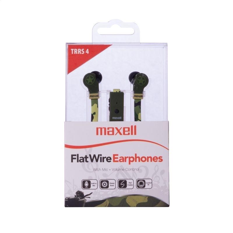 MAXELL EARPHONES FLAT WIRE CAMO 303996,00.CN