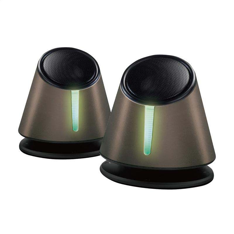 OMEGA SPEAKERS 2.0 OG-118B GREY TUBE 3W RMS USB [43097]
