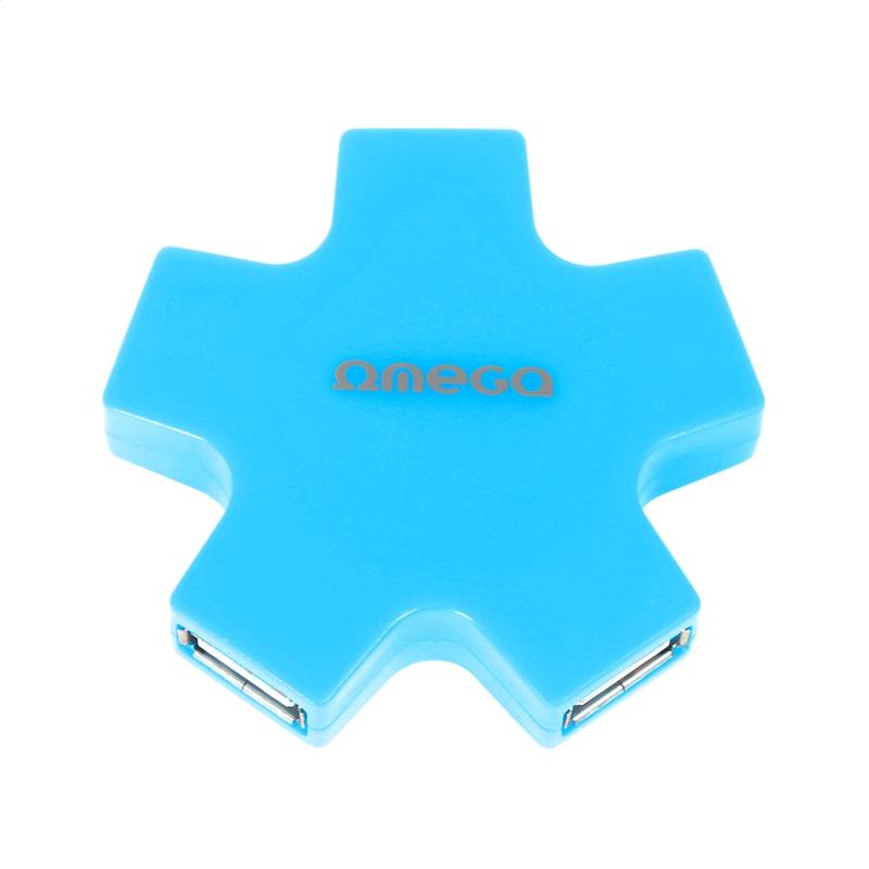 OMEGA USB 2.0 HUB 4 PORT STAR BLUE