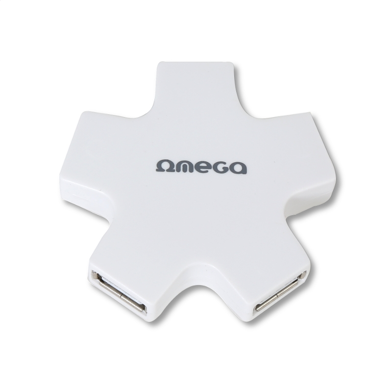 BIELE OMEGA USB 2.0 HUB 4 PORT STAR WHITE [42858]