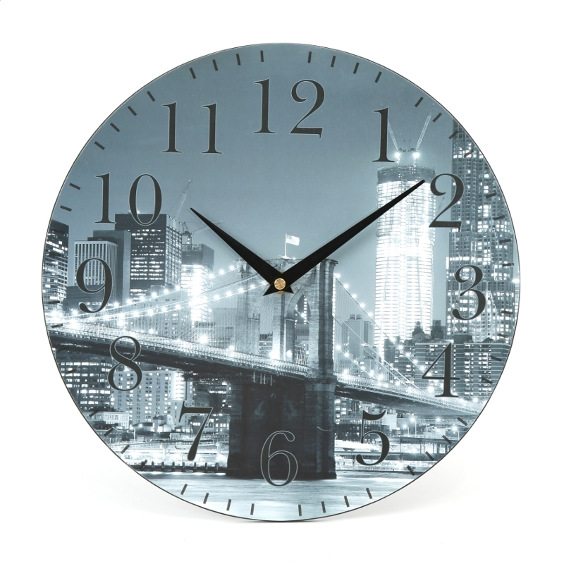 PLATINET WALL CLOCK / CITY