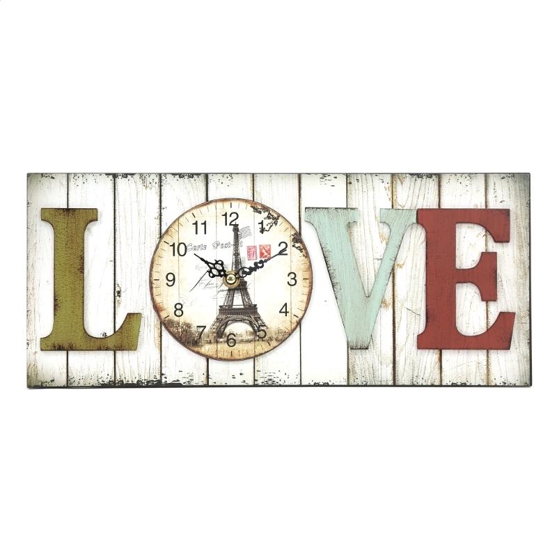 PLATINET WALL CLOCK / LOVE