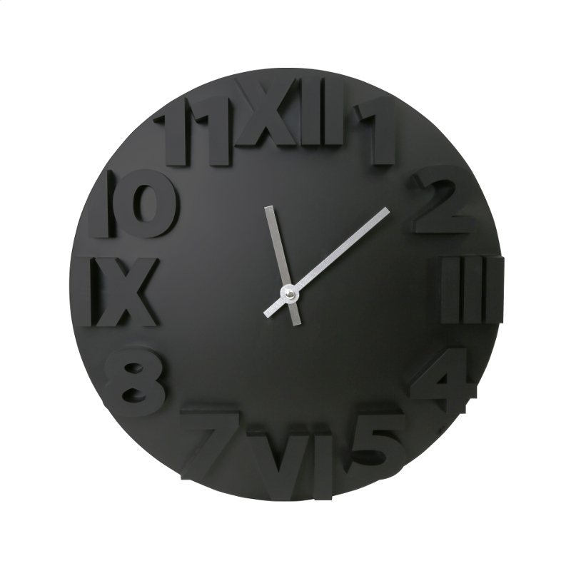 PLATINET MODERN WALL CLOCK / BLACK