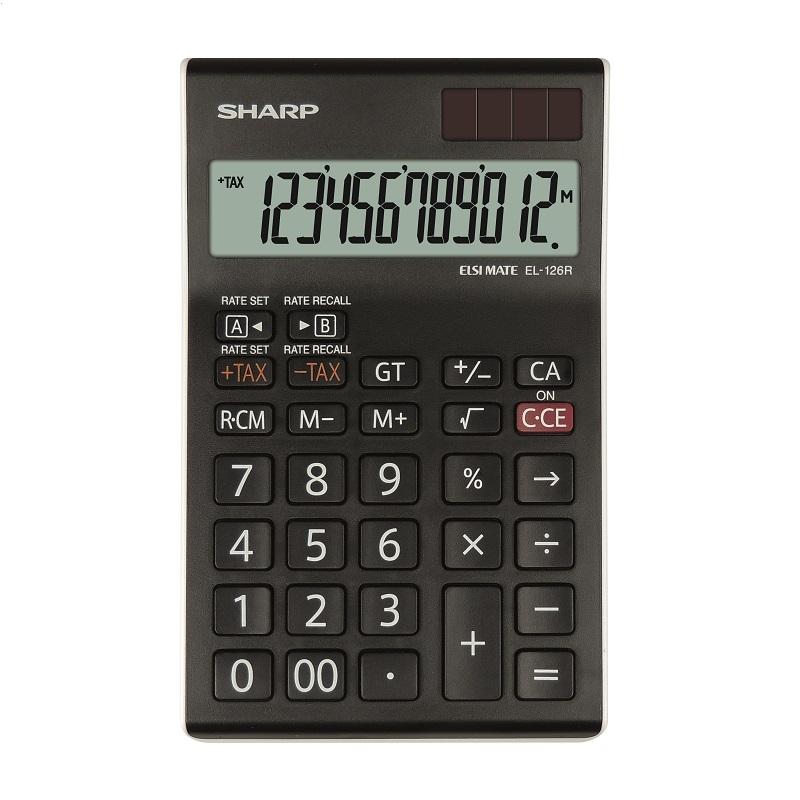 SHARP CALCULATOR DESKTOP BOX EL126RWH