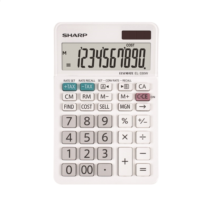SHARP CALCULATOR DESKTOP BOX EL330W