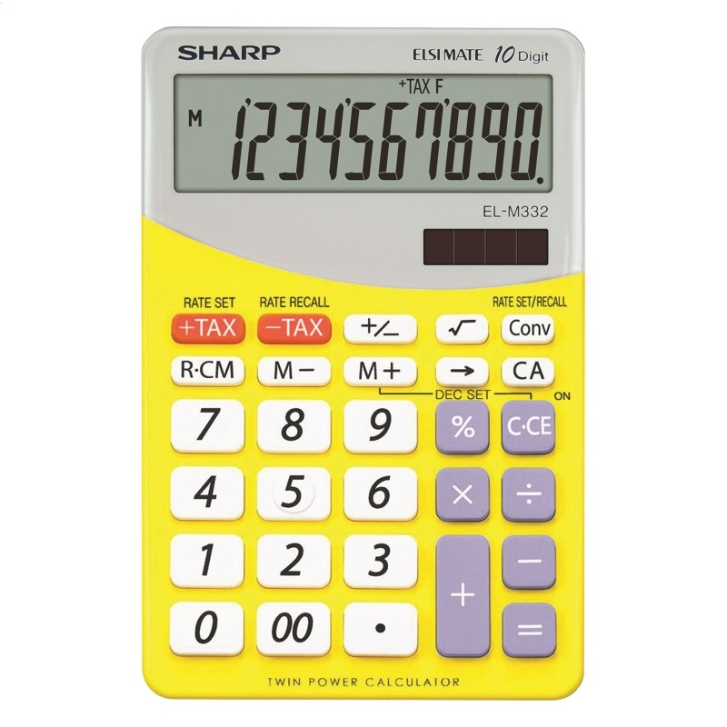 SHARP CALCULATOR DESKTOP BLISTER ELM332BYL