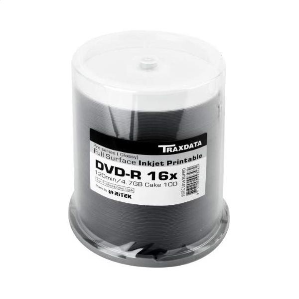TRAXDATA DVD-R 4,7 GB 16x PRO BIELY GLOSSY INK FF PRINT C100 907C1016XGPRO