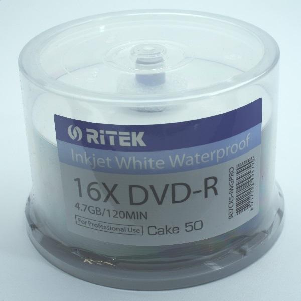 TRAXDATA DVD-R 4,7 GB 16x BIELA GLOSSY VODNÁ TLAČOVÁ KAŠTA 50 907CK50IWGPRO