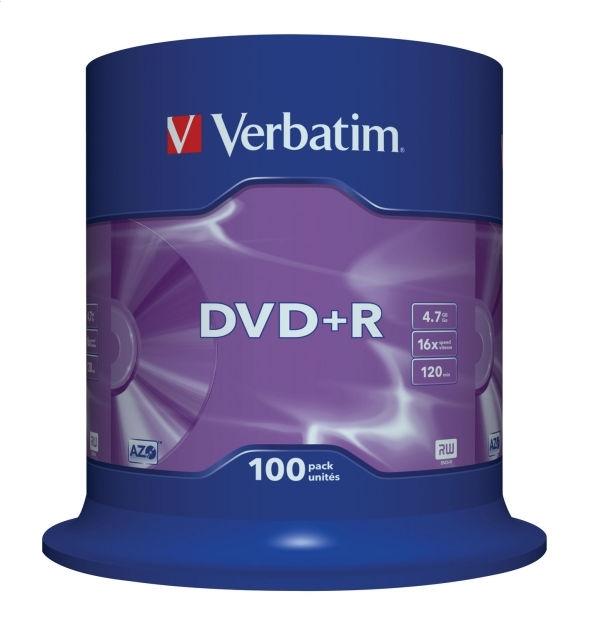 VERBATIM DVD + R 4,7 GB 16x CAKE * 100 43551