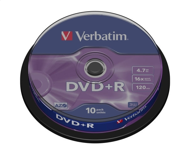 VERBATIM DVD + R 4,7 GB 16x CAKE * 10 43498