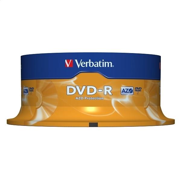 VERBATIM DVD-R 4,7 GB 16x CAKE * 25 43522