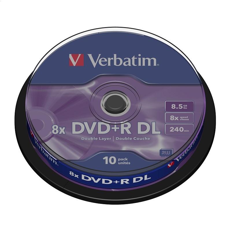 DVD VERBATIM DVD + R 8,5 GB, 8x DVOJITÁ VRSTVA * 10 43666